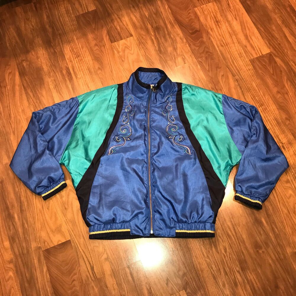 Vtg 80s 90s TAIL Windbreaker SMALL Fresh Prince Hip Hop Track suit JACKET Coat