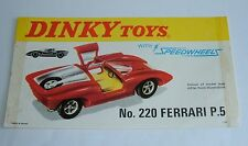 Dinky Toys No. 220, Ferrari P5, Rare 1970's Shop Display Sign, - Superb