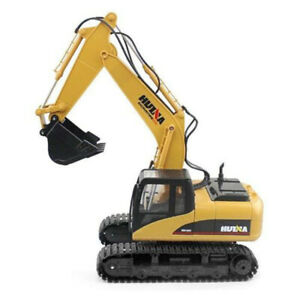 Huina 1550 Rc 1:14 2.4Ghz 15Ch Rc Car Alloy Excavator Rtr Auto Demonstration