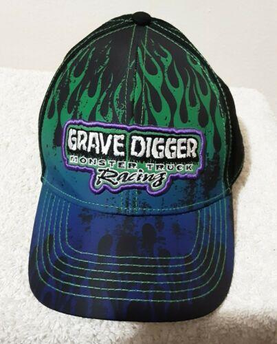 Gravedigger Monster Truck Black Purple Green Flame