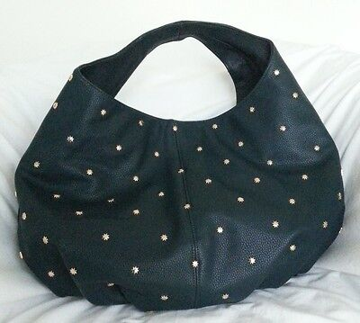 Deux Lux Handbag Shiny Star Gazer Hobo Shoulder Bag Purse in Teal NWT-RP:$170