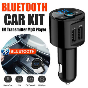 Bluetooth Car FM Transmitter Wireless Radio Adapter MP3 Player USB Charger  LOT