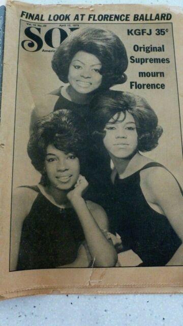 SOUL NEWSPAPER APRIL 12, 1976 FINAL LOOK AT FLORENCE ...