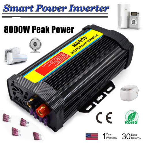 Auto Power Inverter 1200-12000W Peak Modified Sine Wave DC 12V To AC 110V BIN