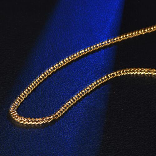 6 mm Classic Chain Link curb gold filled en acier inoxydable Femmes Hommes Parti Collier