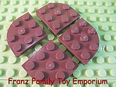 LEGO Lot of 12 Dark Bluish Gray 3x3 Rounded Corner Plate Pieces