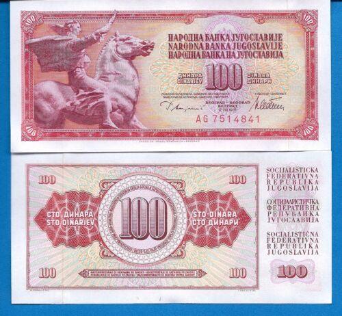 Yugoslavia 5,10,20,50,100,500,1000 Dinara Uncirculated Banknotes Set # 6