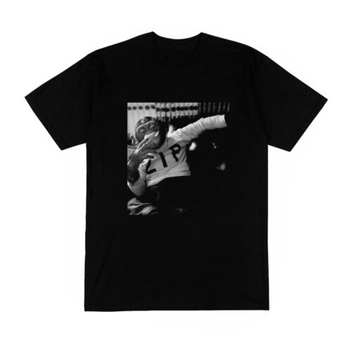 T-shirt Homme noir zip singe fumeur amusant animal chimpanzé blog humour mode