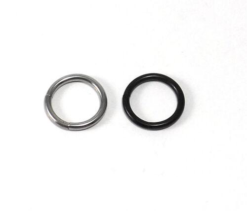 inkgrafix ® 2 anillo de segmento-plata o negro 1,2mm//1,6mm 2 unid.!!!