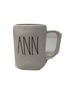 Rae-Dunn-by-Magenta-ANN-Ceramic-Ivory-Coffee-Mug-NEW-Large-Letters