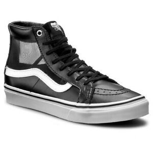 de6fc34fa0 Vans SK8 Hi Slim Cutout Mesh Black White Men s Classic Skate Shoes ...