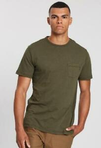 Rip-Curl-PLAIN-SLUB-TEE-Mens-Crew-Neck-Casual-T-Shirts-CTEMW2-Dark-Olive