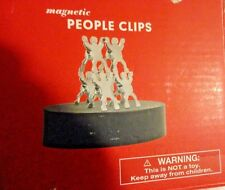 Six Magnetic People Paper Clip With Base Relieve Stress Desktop Office Gadget Toy