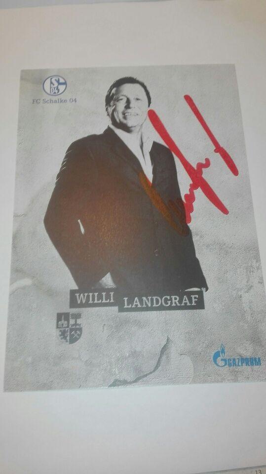 Autografer, Willi landgraf autograf