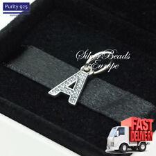 Pandora Alphabet Letter A, Initial, Pendant, Bracelet Charm 791313CZ