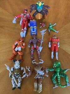 Vintage 1990s Power Rangers Action Figures Bandai Lot