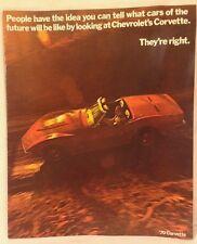 Rare Original 1970 Chevrolet Corvette Stingray Sales Brochure, Exc., 2 Extra Pgs