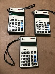 SHARP PC-1802 Scientific Calculator Battery Operated Vintage Sold AS IS Lot of 3