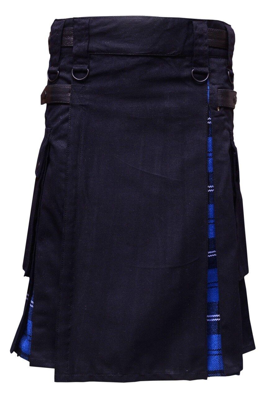 Kilt scozzesi Rock Nero Blu da Tarten & cotone
