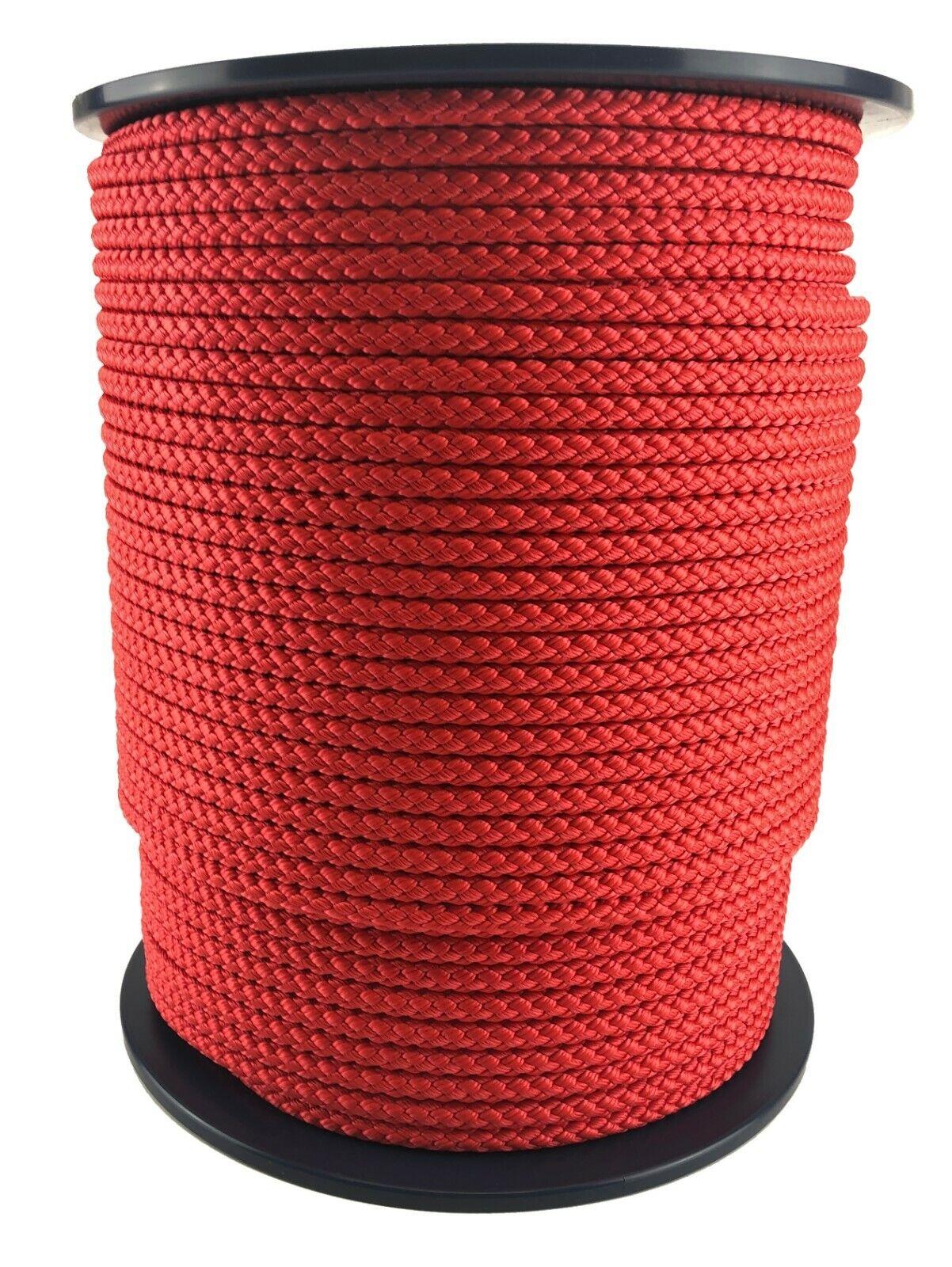 8mm Rot Polypropylen Seil X 200 Meter Geflochten Poly Line Segeln Stiefelfahren