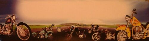 """HARLEY DAVIDSON POSTER //BANNER PERSONALIZED  W// YOUR NAME 30X8.5/"""""""