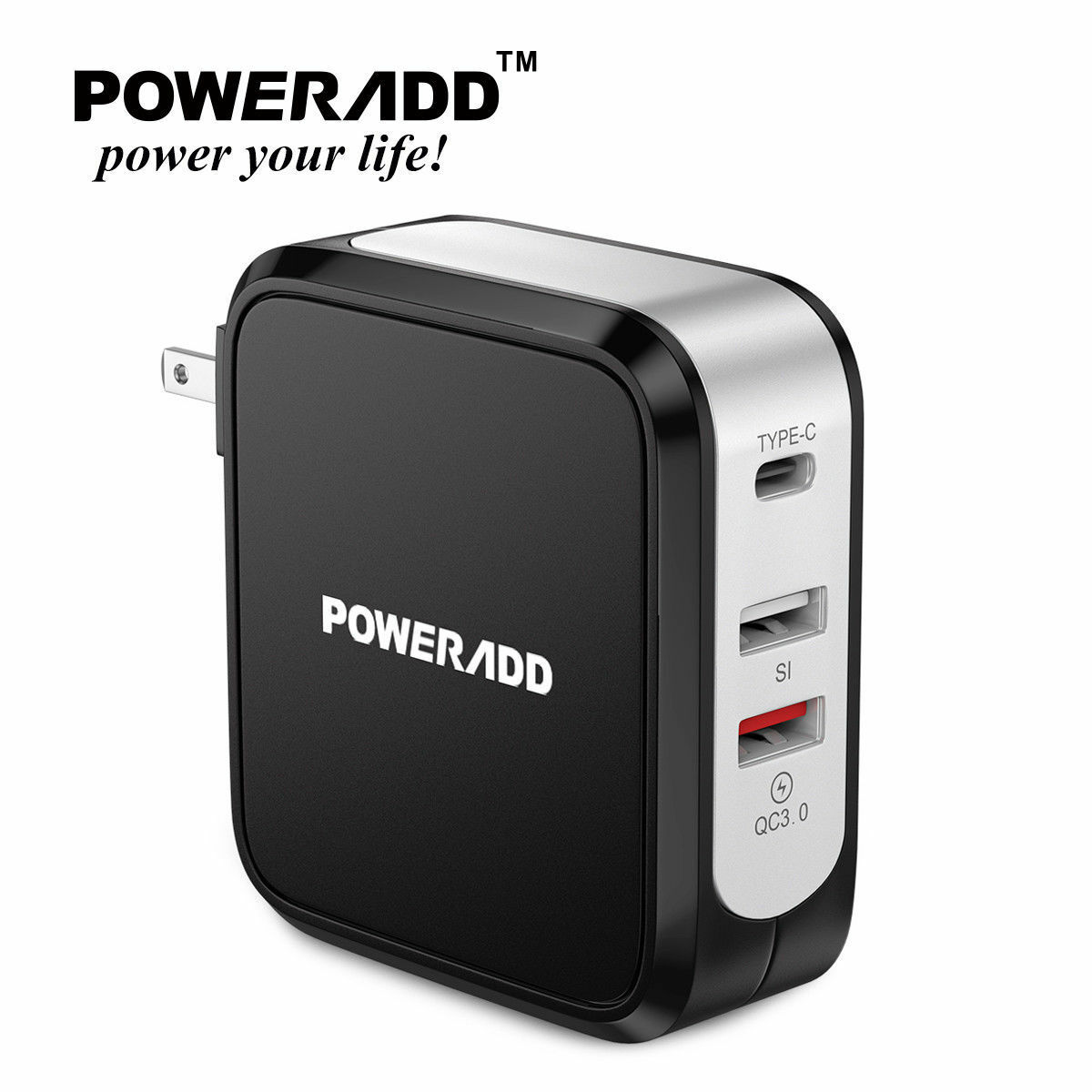 Poweradd Quick Charge 3.0 USB Wall Fast Charger with USB-C Output