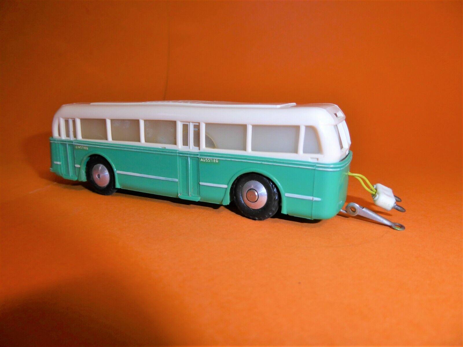 EHEIM H0 103 Trolley Bus 2achs. Anhänger grün weiß (2)
