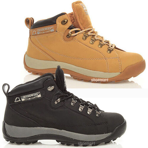 MENS LADIES GROUNDWORK SAFETY STEEL TOE CAP ANKLE TRAINERS WORK BOOTS SHOES