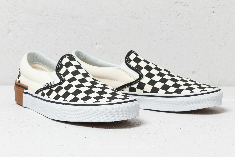 Vans Classic Slip-On Gum Block Checkerboard shoes Men's size 11.5