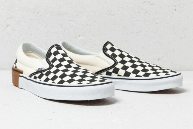 7ed6c8c7d33 VANS Slip-on Gum Block Checkerboard Black White Men 12 SNEAKERS ...