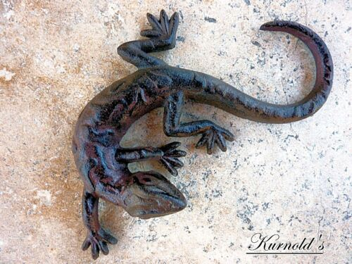 Lizard LEGUAN lucertola Salamander LURCH reptilie Animale Decorazione FERRO kurnolds 0152