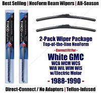 Wipers 2pk Premium Fit 1988-1990 White Gmc W-series W/electric Motor 16200x2