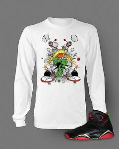 e22380a8a105 Tshirt to Match Retro Air Jordan 7 Marvin The Martian Long Sleeve T ...
