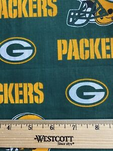 Green Bay Packers Fabric 1 2 Yard 100 Cotton Ebay