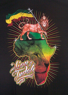 Quot Lion Of Judah Quot Reggae Rasta Us Screen Printed Cotton T