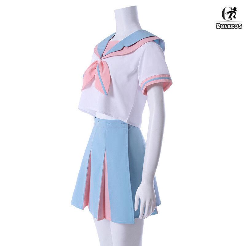 Women Lolita Rabbit Ear Sailor Costume JK School Uniform Dress Cosplay Costume