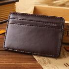 Fun Men PU Leather Magic Money Clip Slim Wallet ID Credit Card Holder Case Purse