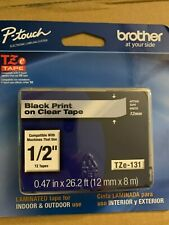 Brother Tze 131 Black Print On Clear Laminated Tape For P Touch Label Maker 5x
