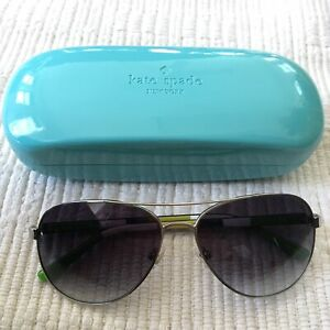 77d804dca Image is loading Kate-Spade-Blossom-Sunglasses-58mm-Aviator-Silver-0YB7-