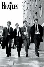 THE BEATLES WALKING IN LONDON STREET POSTER PRINT 24X36 FREE SHIPPING