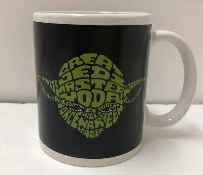 Star Wars Yoda Darth Vader Double Sided Coffee Mug Cup W Word Art Lucasfilm Ebay