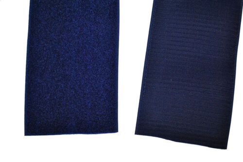 Cinta de velcro azul oscuro 50mm de ancho por 1m ganchos de cierre de velcro-y semitransparente