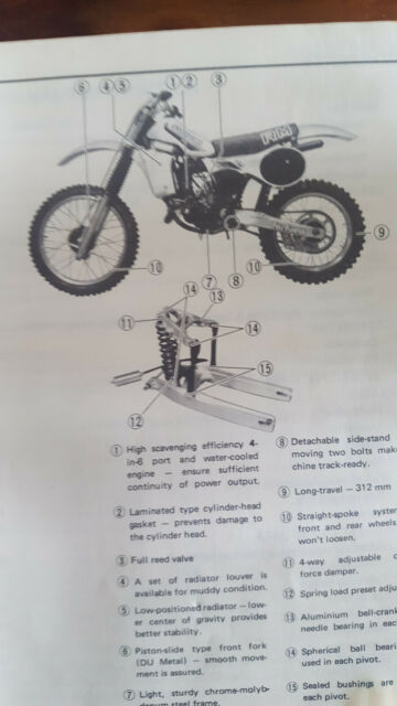 Suzuki Rm 125 Owner U0026 39 S Maintenance Manual Book 1982 Model