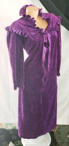 Vintage Edwardian Purple Glam Crush Velvet Velour
