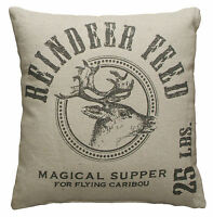 Primitives By Kathy 15 Square Accent Holiday Christmas Pillow reindeer Feed