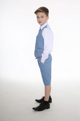 4 Piece Short Set Suit Wedding Page boy Formal Baby Boys Boys Suits Linen Suit
