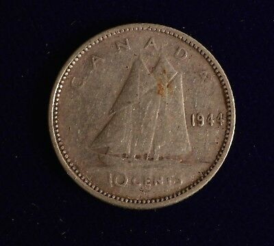 Low Mintage Dime Canada 1939 10 CENT Nice Coin Book filler