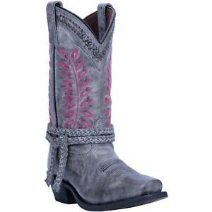Laredo-51148-Fern-Women-039-s-Sanded-Grey-Leather-11-034-Western-Boots