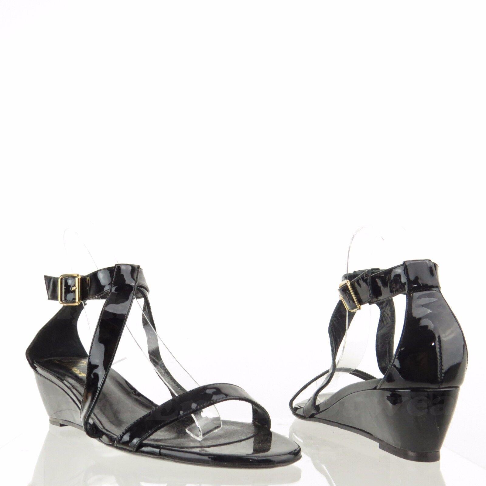 la migliore moda Delman Caryn Caryn Caryn Donna  nero Strappy Patent Leather Sandal Wedges Sz 10 M NEW  378  migliore qualità