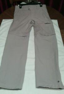 COLUMBIA-Women-Size-8R-Pants-Shorts-Cargo-Tan-Outdoor-Hiking-Convertible